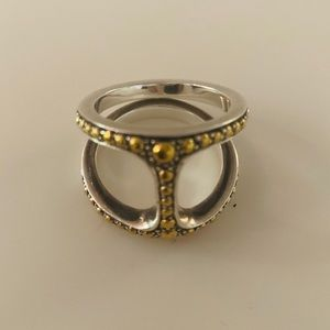 Hoorsenbuhs ring. Silver and gold